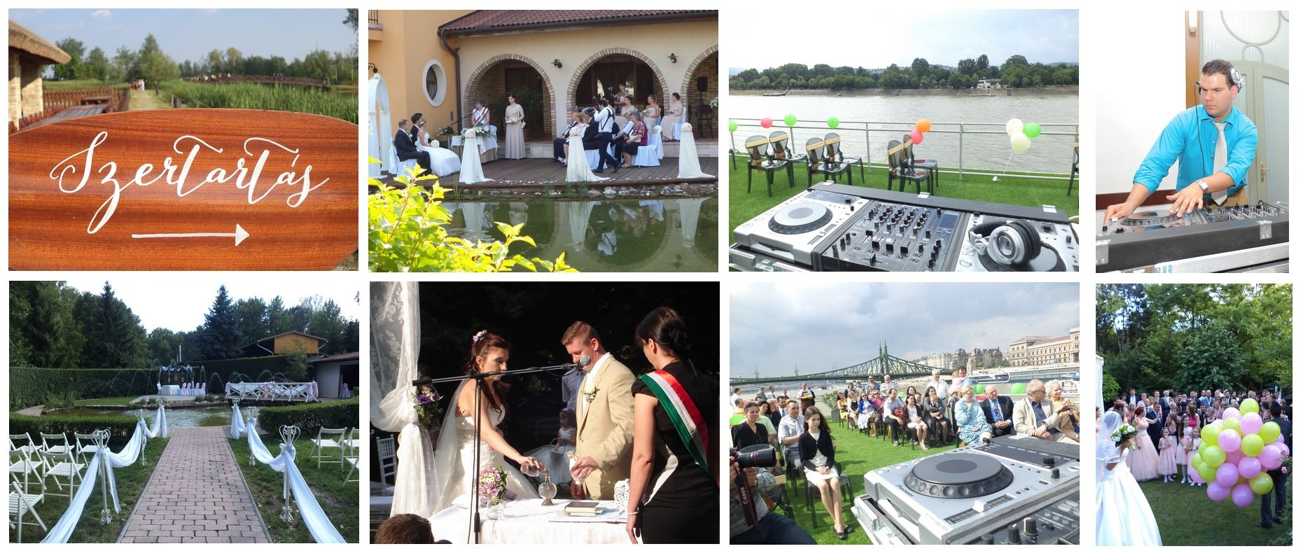 Esküvői DJ szertartás hangosítás